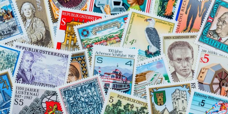 Bunte Briefmarken
