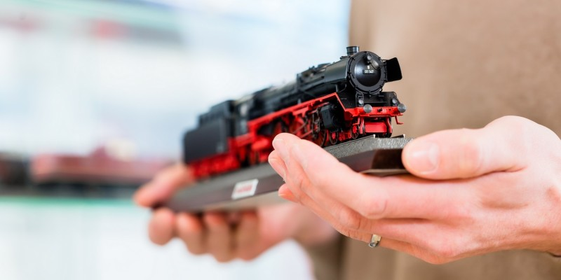 Lokomotive einer Modelleisenbahn