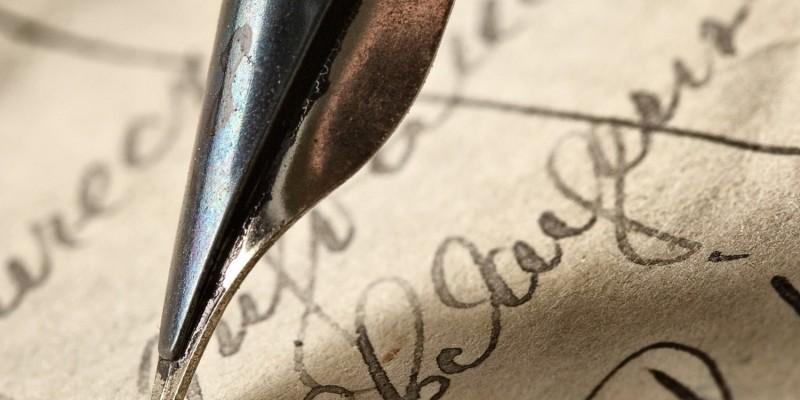 Füller und alte Schrift